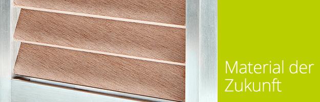 KP Kunststoffprofile hat die Verarbeitungsmöglichkeiten von Resysta am Beispiel eines (Schiebe-) Fensterladens erfolgreich getestet