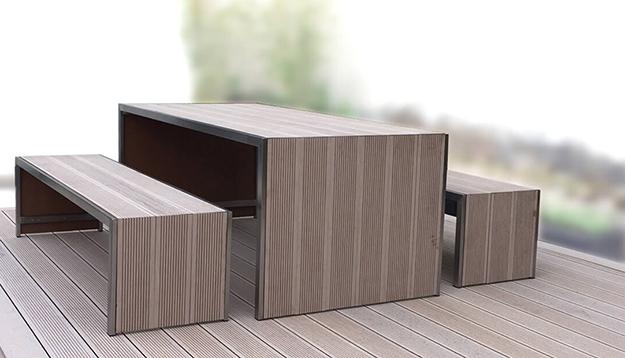 Ertse Gartenmöbel und Terrasse aus Resysta